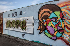 Art at East side of Berlin Wall, Berliner Mauer, Berlin. Germany Royalty Free Stock Photos