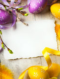 Art Easter background with Easter eggs Royalty Free Stock Photos