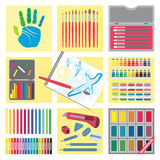 Art and elements icons � Painting Royalty Free Stock Photo