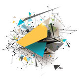 Art Elements poligonal geométrico colorido Explosión abstracta con los triángulos poligonales, rondas, líneas Tecnología futura Fotos de archivo