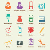 Art elements. Vector infographic icons Royalty Free Stock Images