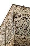 Art en bois avec les modèles floraux Images stock