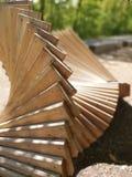 Art en bois moderne en plein air images stock