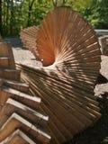 Art en bois moderne en plein air photos stock