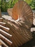 Art en bois moderne en plein air images libres de droits