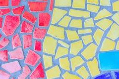 Art en verre coloré de mosaïque Photographie stock libre de droits