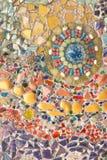 Art en verre coloré de mosaïque et mur abstrait Images libres de droits