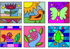 Art en verre de griffonnage Photographie stock libre de droits