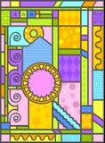 Art en verre souillé d'Art-deco Image stock