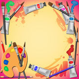 Art Equipment Background Royalty Free Stock Image
