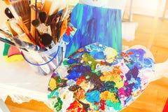Art et amour La magie colore des moments Image libre de droits
