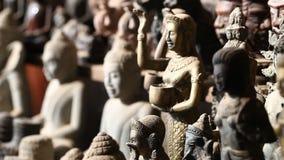 Art et culture de religion du Cambodge de bouddhisme banque de vidéos