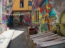 Art et graffiti de rue à Valparaiso, Chili image stock