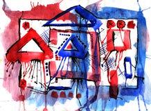 Art et peinture et abstrait et couleur Images stock