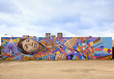 Art et peintures murales de rue dans le Midtown Miami Photos libres de droits