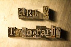 Art et typographie - Metal le signe de lettrage d'impression typographique Photographie stock libre de droits