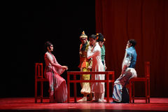 "Art exchange -Dance drama""Mei Lanfang"" Stock Photos"