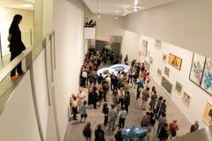 Art exhibit at modern art museum Stock Image
