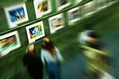 Art exhibition Royalty Free Stock Photography