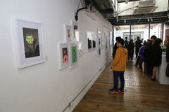 Art exhibition Royalty Free Stock Images