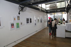 Art exhibition Royalty Free Stock Photos