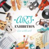 Art Exhibition Illustration Image stock