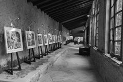 Art exhibition in Palazzo Pfanner. Lucca. Italy. Europe. stock images