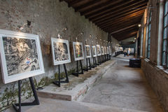 Art exhibition in Palazzo Pfanner. Lucca. Italy. Europe. Stock Image