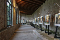 Art exhibition in Palazzo Pfanner. Lucca. Italy. Europe. Royalty Free Stock Photos