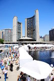 Art Exhibition in Toronto. An outdoor art festival in Toronto's Nathan Phillips Square stock photos