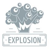 Art explosion logo, simple gray style. Art explosion logo. Simple illustration of art explosion vector logo for web Royalty Free Stock Photo