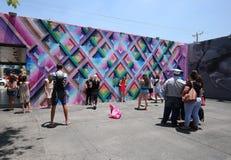 Art extérieur aux murs de Wnywood à Miami, la Floride Image libre de droits