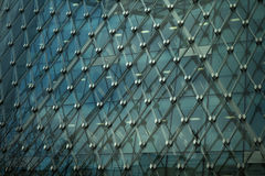 Art exterior of modern glass business center Royalty Free Stock Image