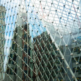 Art exterior of modern glass business center Royalty Free Stock Photos