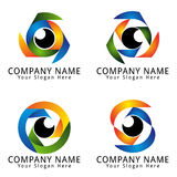 The Art Of Eye Concept Logo Royalty Free Stock Photography
