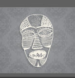Art face made from lines. Stock Images
