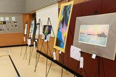 Local School Art Fair. An art fair at a local school royalty free stock images