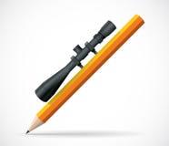 Art faisant le crayon - point positif - dessin Photographie stock libre de droits
