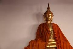 Art And Faith Ein goldener Buddha stockbild