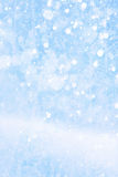 Art falling snow on the blue background Royalty Free Stock Images