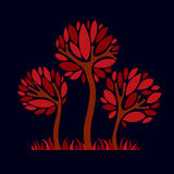 Art fantasy illustration of tree, stylized eco symbol. Graphic Royalty Free Stock Images