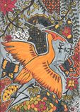 Art, Fauna, Orange, Pattern