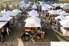Art Festival in im Stadtzentrum gelegenem Summerlin, Las Vegas, Nanovolt Lizenzfreies Stockfoto