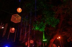 Art festival lighting in India-7 Royalty Free Stock Photo