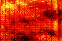 Art fire burning metal wall pattern background Royalty Free Stock Image