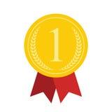 Art Flat Medal Icon per il web Icona app della medaglia Icona della medaglia la cosa migliore Fotografia Stock Libera da Diritti