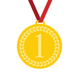 Art Flat Medal Icon for Web. Medal icon app. Medal icon best. Royalty Free Stock Image
