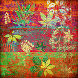 Art floral autumn background. Card Stock Images