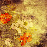 Art floral background. Art abstract grunge floral vintage background Royalty Free Stock Image