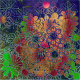 Art floral background. Art floral grunge pattern background Royalty Free Stock Photography